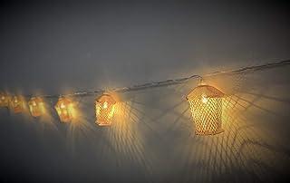 Eid Decorations Gold Mesh Metal Lantern String Light for Ramadan Karim Eid Mubarak Islamic Decoration Party Festival Warm ...