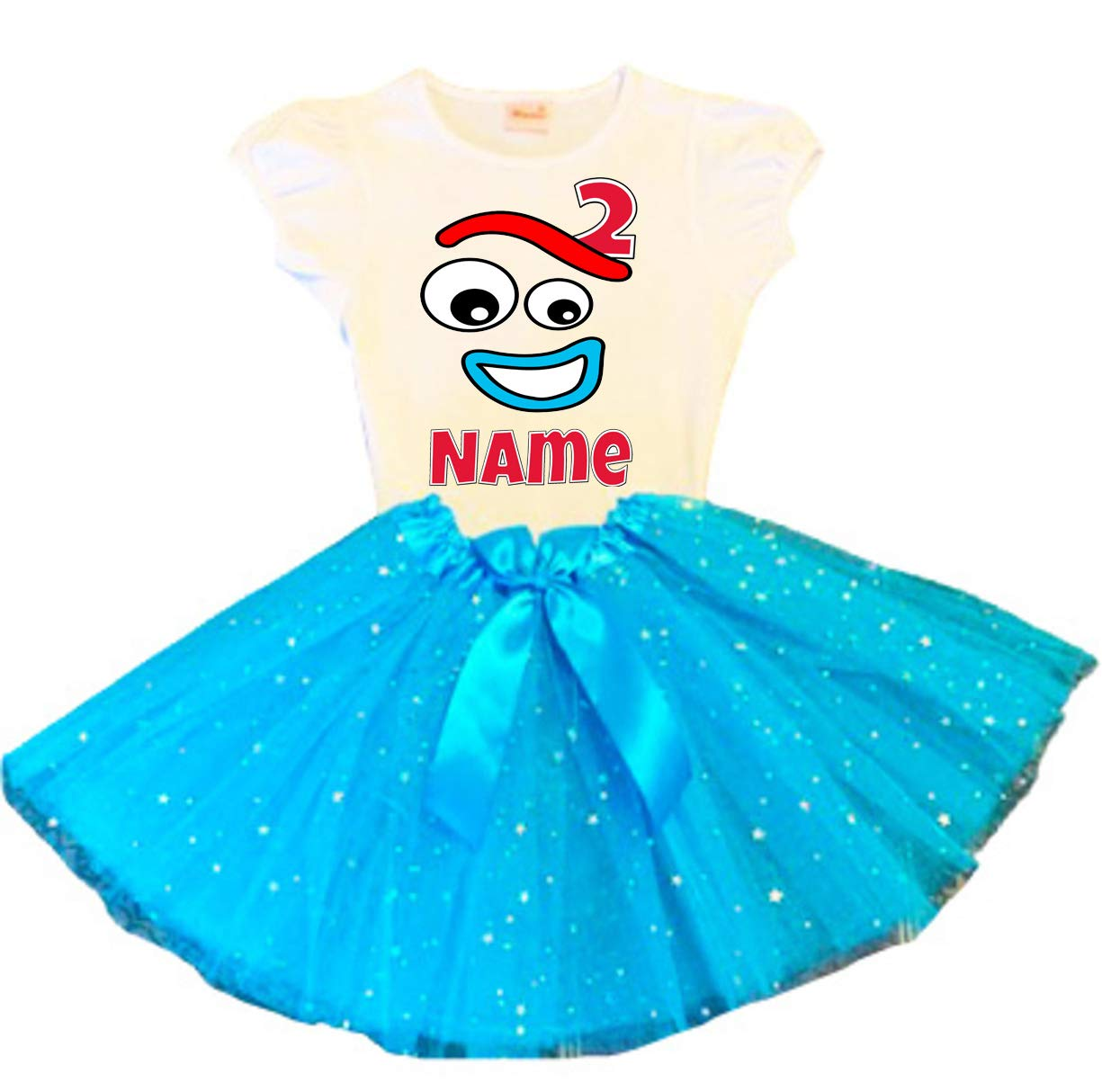 Forky Birthday Tutu 2nd Special price Party San Diego Mall Dress Turquoise Outf