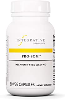 Integrative Therapeutics - Pro Som - Melatonin-Free Sleep Aid - L-Theanine, Magnesium, Theracurmin - Reduce Waking After S...