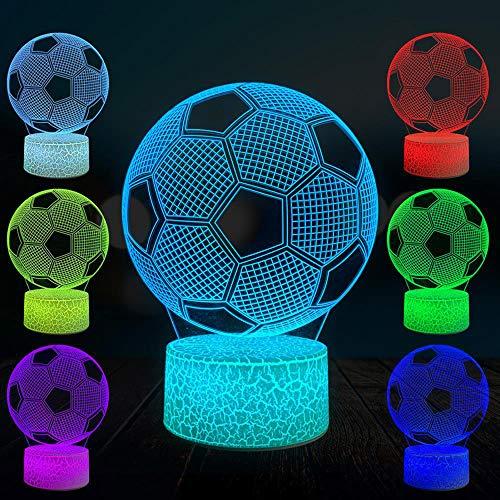 Baby Spielzeug 3D motocicleta Racer lámpara LED noche luz con control remoto 16 colores regulable interruptor táctil lámpara noche regalo cumpleaños feliz Navidad para niñas hombres niños fútbol