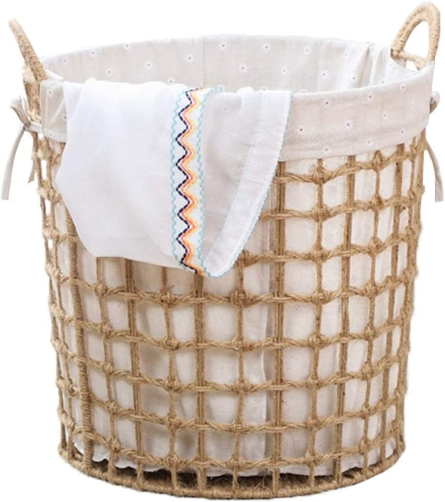 A surprise price is realized Rattan Hamper Household Storage Toy Basket Woven Large Some reservation