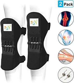 Knee Booster 2 Pack,  Spring Joint Support Knee Brace,  Powerful Rebounds Spring Force for Knee osteoarthritis,  Climbing,  Squat,  Mountaineering,  Exercising,  One Size Fits Most