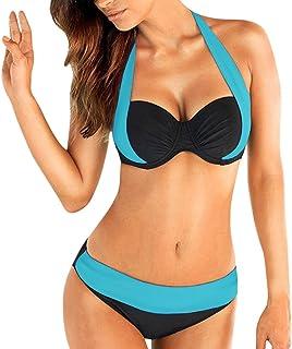 abd698d789 Dainzuy Women Tankini Sets with Boy Shorts Bikini Sets Swimwear Push-Up  Padded Bra Beach