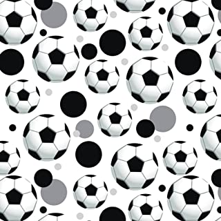 Premium Gift Wrap Wrapping Paper Roll Pattern - Soccer Ball Football - Ball