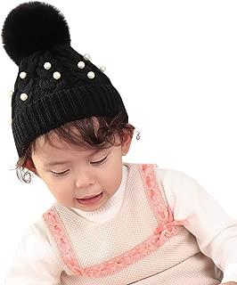 Los Colores de Contraste de Invierno de Los Ni/ños Sombreros de Punto de Lana C/álida Conjunto de Dos Piezas de Gorro y Bufanda Trisee Gorros de Punto para Beb/é Ni/ño