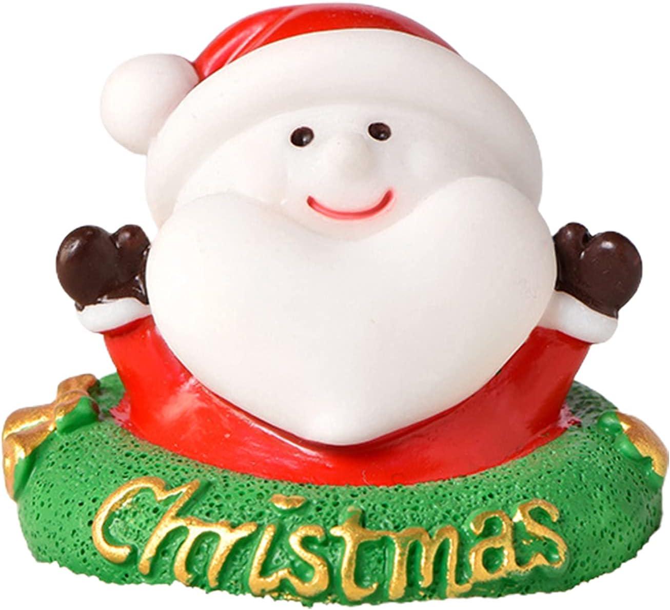 Chicmine Christmas Figurine 5 ☆ very popular Mini Santa Chr free shipping Cartoon Snowman Resin