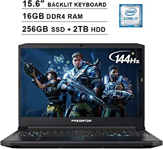 Acer 2019 Predator Helios 300 15.6 Inch FHD Gaming Laptop (9th Gen Intel 6-Core i7-9750H up to 4.5 GHz, 16GB RAM, 256GB PCIe SSD + 2TB HDD, Backlit Keyboard, GTX 1660 Ti, WiFi, Bluetooth, Win 10)