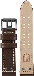 Luminox Men's Atacama Series Brown & Beige Leather Strap Stainless Steel Buckle Watch Band