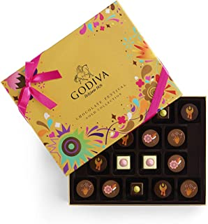 Godiva Chocolatier Assorted Chocolate Festival Gift Box, Chocolate Assortment, Gourmet Chocolate, Chocolate Gifts, 18 pc, 8 Ounce