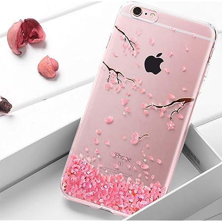 Coque iPhone 6S Plus / 6 Plus,Surakey Bling Gliter Paillette Coque iPhone 6S Plus Transparent Silicone TPU Souple Bumper Case Cover de Protection ...