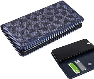 HUAWEI P20 Pro HW-01K 手帳型 ケース カードポケット 吸盤付き スマホケース ファーウェイ P20プロ HW01K ケース 手帳 カバー スリム TPU 合皮レザー ウィンドミル シンプル docomo ネイビー NAVY