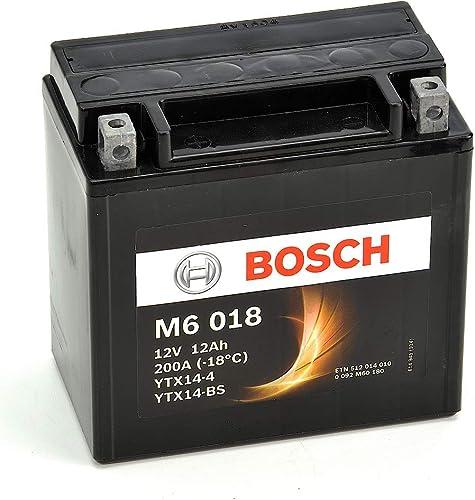 Bosch 0092M60180 Batterie Moto M6018 Agm 12A/H200A, 12V