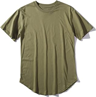 Clustor New Streetwear Extended West T-Shirt Cotton Swags T Shirts Tees Top