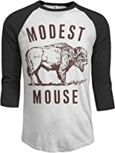 JeremiahR Modest Mouse Men's 3/4 Sleeve Raglan Baseball T Shirts Black