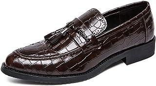 [ランボ] ビジネスシューズ メンズ ブラック 26.5cm 通気 快適 靴 高級 オールシーズン 就活 通勤 普段用 プレーントゥ 紳士靴 抗菌 滑り止め 防水 防滑 軽量 履きやすい タッセル