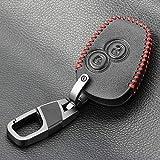 BYSDSG pour Housse en Cuir Automatique pour Nissan Almera pour Renault Clio Dacia Logan Mégane Espace Kangoo Duster Twingo 2BTN Cas de clé de télécommande de Voiture