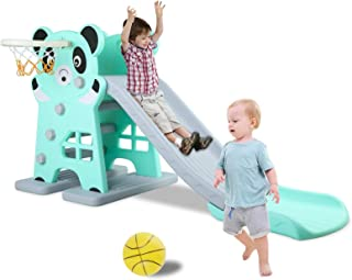 LAZY BUDDY Kids Slide, Sturdy Toddler Playground Slipping Slide Climber for Indoor Outdoors Use, Children Toy Playset with...