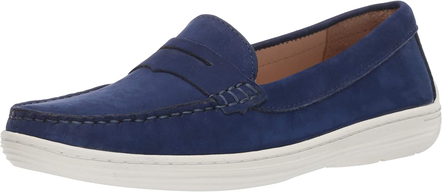 Driver Club USA Unisex-Child Leather Casual Comfort Slip on Moccasin Penny Loafer Driving Style