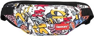 SOPHICATE Man's Waist Packs,Fashion Doodling Hip hop Bags,Fanny Pack with Adjustable Belt,2ways Use Shoulder Bag,Sport Bum...
