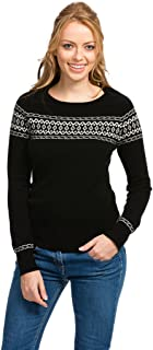 Citizen Cashmere Fair Isle Sweater (Women's) - 100% Cashmere (Black)