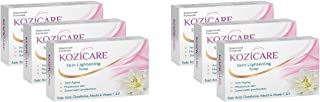 Kozicare Skin Lightening Soap with Kojic Acid, Glutathione & Arbutin - 75g (Pack of 6)