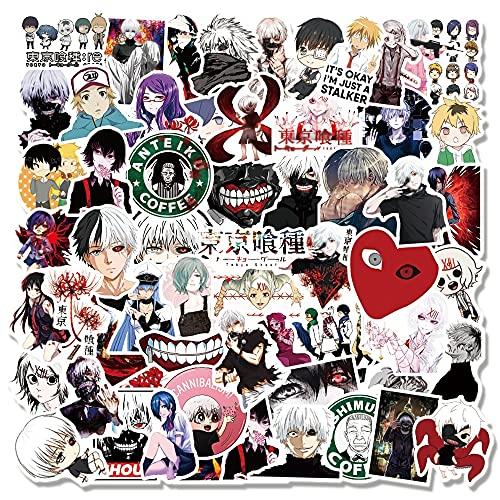 YZFCL Anime Tokyo Ghoul Graffiti Pegatinas impermeables para ordenador portátil Guitarra, monopatín, equipaje, calcomanías de juguete 100 piezas