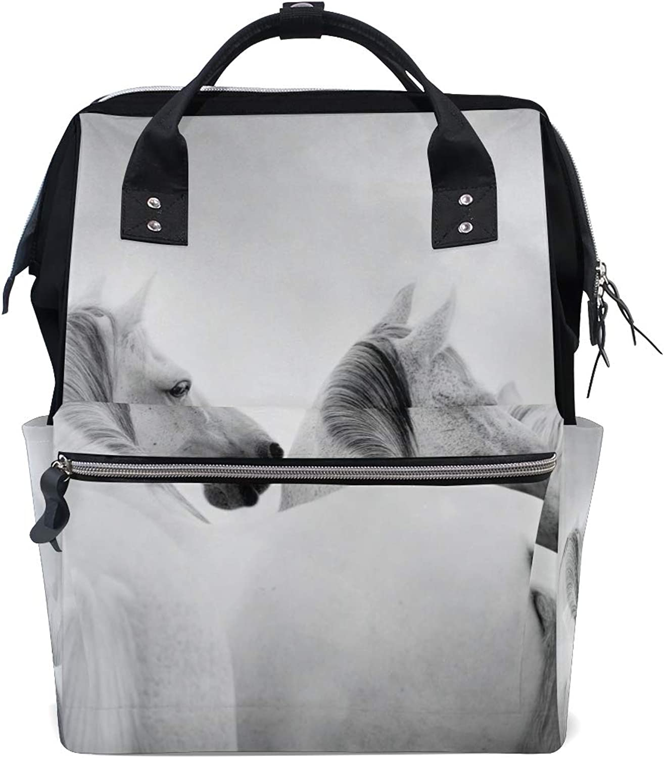 fb749fb4060b Backpacks Beautiful White Horse School Bag Canvas Daypack FANTAZIO ...