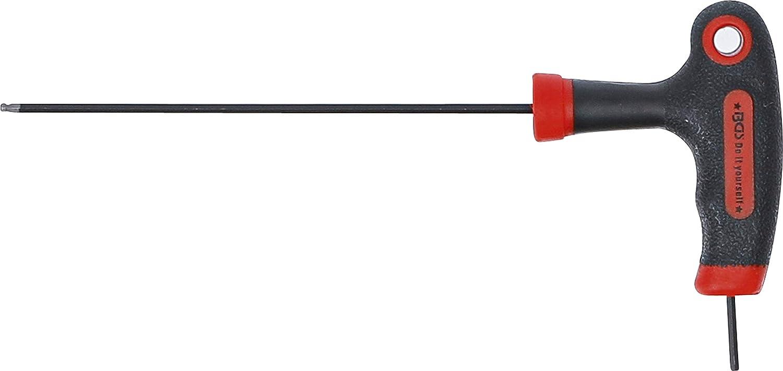 Destornillador con empu/ñadura en T y cuchilla lateral Kraftmann 7882-2 hex/ágono interior//hex/ágono interior con cabeza de bola 2 mm