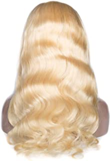TT Lemon Hair Full Lace Wig Body Wave 613 Blonde Color 100% Remy Human Hair 150% Density 10 30 Inch,#613,14inches,150%