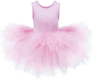 DHASIUE Girls Tutu Dress Toddler Cute Leotard with Tutu Skirt for Dance, Gymnastics and Ballet