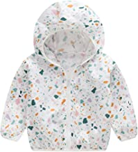 Sherostore ♡ Unisex Kids UV/Sun Protection Zipper Hoodie Coat Lightweight Ultrathin Windbreaker Jacket for Travel Beach