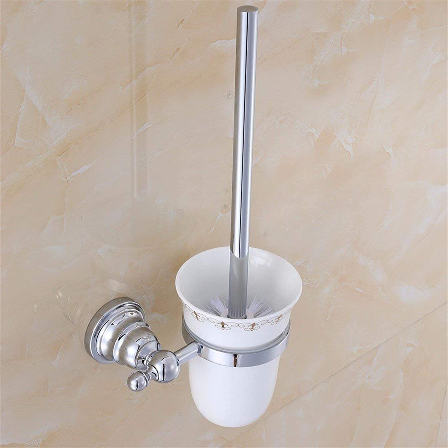 Contemporary of The Chromed zinc Alloy Bathroom, wc, Toothbrush Rack Brush Cup Chassis,Toilet Brush