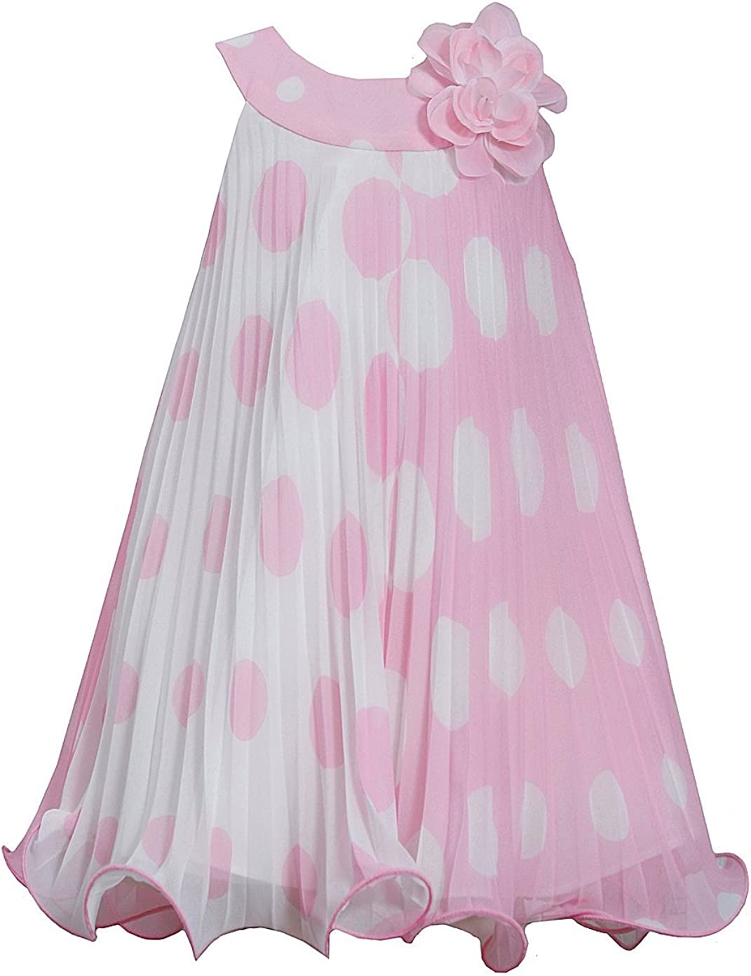 Bonnie Baby Baby-Girls Newborn We OFFer at cheap prices Crystal Pleat Pink Kansas City Mall Dot