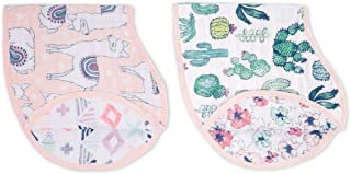 aden + anais Classic Burpy Bib; 100% Cotton Muslin; Soft Absorbent 4 Layers; Multi-Use Burp Cloth and Bib; 22.5