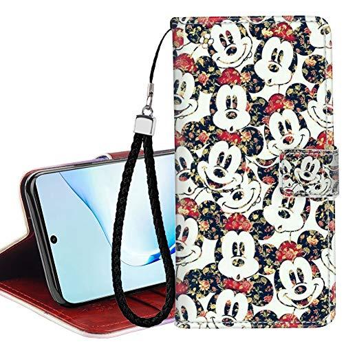 DISNEY COLLECTION Funda tipo cartera para Samsung Galaxy Note 10, diseño de Mickey Mouse, con cierre magnético, función atril, absorción magnética
