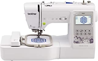"""Brother SE600 Sewing and Embroidery Machine, 80 Designs, 103 Built-In Stitches, Computerized, 4"""" x 4"""" Hoop Area, 3.2"""" LCD ..."""