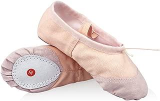 Demarkt Ballettschuhe Ballett Wohnungen Frauen Tanzschuhe Flache Tanzschuhe Slipper Leinwand Vamp Leder Sohle
