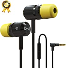 Marsno M1943 Earbuds Audio in-Ear Headphones with Microphone Noise Isolating in-Ear Memory Foam - Ear Buds with Powerful Bass and Pure Sound - [ 3.5mm Jack, Premium Aluminum Construction ] Black