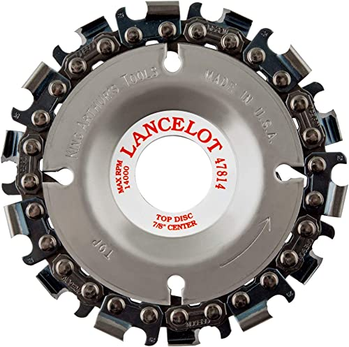 """high quality King Arthur's Tools Original & Patented Lancelot 14 outlet online sale Tooth Carving Disc - 4"""" (100mm) Dia. X popular 7/8"""" (22mm) Bore - Fits 4 and 4 1/2"""" Woodworking Angle Grinder - Attachment for Milwaukee, Fein 47814 outlet sale"""