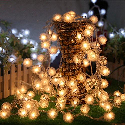 Lichterkette FeiliandaJJ 2.5M 20LED Deko Lichterkette, IP44 wasserdicht Löwenzahn Lichterkette für Zimmer, Kinderzimmer, Garten, Balkon, Weihnachten, Halloween, Weihnachtsbaum, Hochzeit (Gelb)