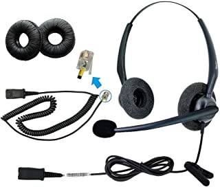 DailyHeadset RJ9 Duo Corded Office Phone Headset Noise Cancelling Mic for Cisco IP Phone 6941 6945 6961 7940 7942 7945 7960 7962 7970 7971 7975 and M10 M12 A20 S20