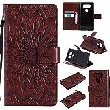 Guran® Custodia in Pelle per LG V20 Smartphone Avere Carta Slot Supporto Protettiva Flip Case Cover-Marrone