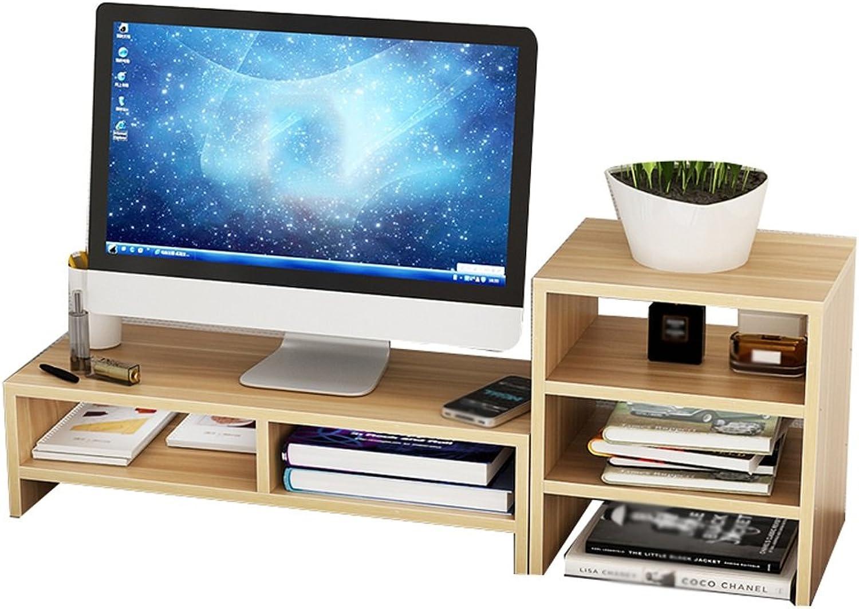 Computer Monitor TV   Printer Widescreen Lifting Board, Wood-Based Panels, Desktop Storage Finishing Rack (color   1 )