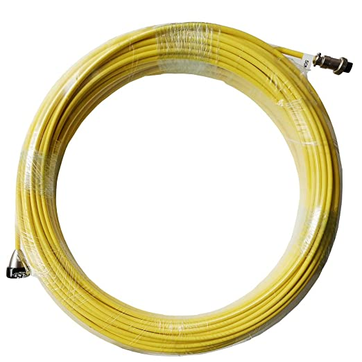 20M Replacement Cable for 23mm Pipe Inspection Camera Yellow V8T5