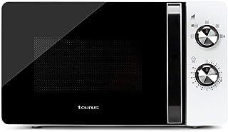 Taurus Fastwave 20 - Micro-ondes 700W, 20L, 5 niveaux de puissance, Sans grill, Décongélation, Auto-clean, Revêtement Whit...
