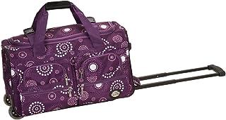 Rockland - Bolsa de viaje con ruedas (55,8 cm), Perla Púrpura, Una talla