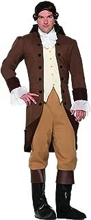 Forum 78004 Men's Colonial Gentleman Patriotic Costume, Standard, Brown, Pack of 1