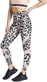 Rockwear Activewear Women's Snow Leopard Fl Mesh Panel Tight from Size 4-18 for Full Length Bottoms Leggings + Yoga Pants+...