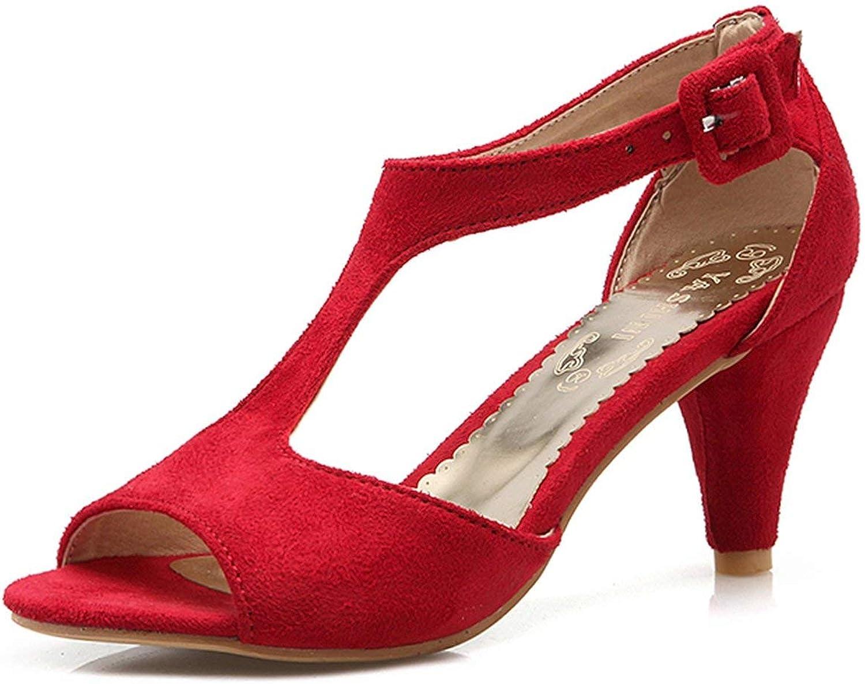 Houfeoans Wholesale shoes Women T-Strap Sandals Summer shoes Woman Fashion Date Party Footwear 34-43