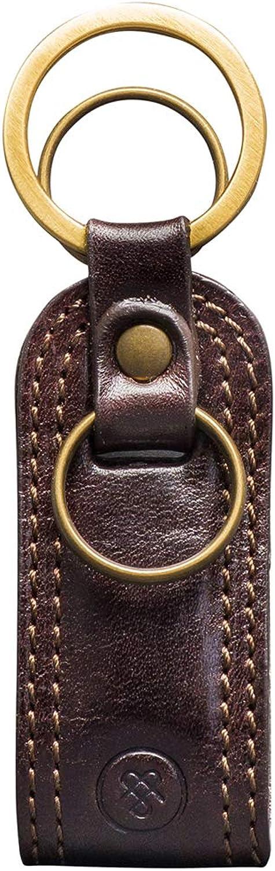 Maxwell-Scott Hochwertiger Herren Leder Schlüsselanhänger Schlüsselanhänger Schlüsselanhänger Nepi in Dunkelbraun B01H3KIULA f298a3